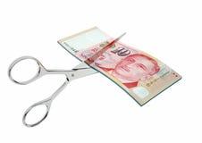 与剪刀的3D Siongaporean货币 向量例证