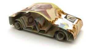 与加拿大元的汽车财务 向量例证