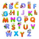 与动物的字母表。 免版税库存照片