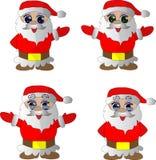 与动画片圣诞老人项目的新年集合 库存照片
