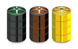 与化学制品的桶 免版税库存图片