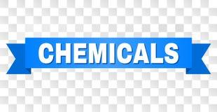 与化学制品的蓝色条纹题为 库存例证
