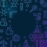 与化工概述象的五颜六色的化学传染媒介框架 皇族释放例证