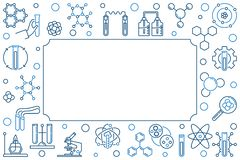 与化工线象的化学传染媒介创造性的背景 向量例证
