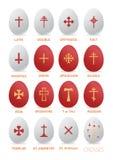 与十字架的复活节彩蛋 库存图片