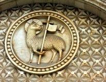 与十字架的羊羔 免版税库存照片