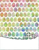 与十字架的颜色鸡蛋 免版税图库摄影