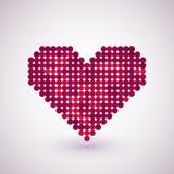 与半音作用的心脏 库存图片