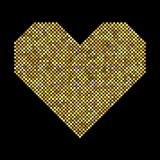 与半音作用的心脏 免版税库存图片