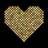 与半音作用的心脏 免版税库存照片