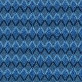 与半音无缝的argyle样式的蓝色牛仔布 免版税库存照片