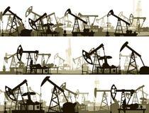 与单位的水平的横幅石油工业的 库存例证