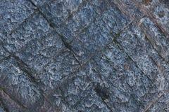 与单块玻璃的蓝蓝石结构分裂了花岗岩 图库摄影