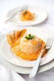 与南瓜奶油的意大利煨饭 免版税库存图片