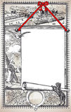 与占位符菜单的葡萄酒图表页餐馆的 免版税库存照片