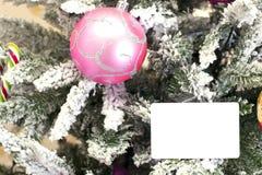 与卡片模板的圣诞节抽象背景 免版税库存照片