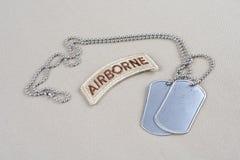 与卡箍标记的美国陆军空中选项 库存照片