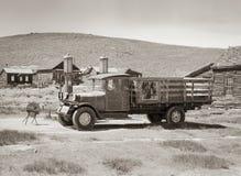 与卡车的Bodie金矿 库存图片