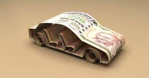 与印度卢比的汽车财务 向量例证