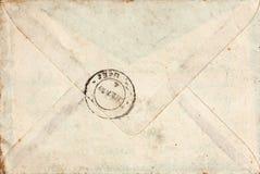 与印花税的老信包 免版税库存照片