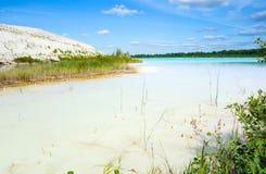 与危险碱性湖的毒性区域 免版税库存照片