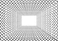 与卷曲线的抽象隧道框架 皇族释放例证