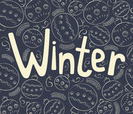 与卷毛的冬天背景 库存照片