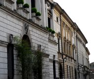 与历史宫殿的Corso Palladio在威岑扎在威尼托(意大利) 库存照片