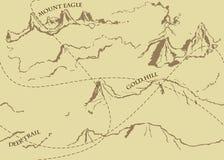 与历史的寓言地图的年迈的幻想葡萄酒样式 库存图片