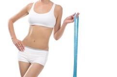 与厘米的女性腰部 库存图片