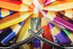 与叉子和大象的概念在幻想背景IV 免版税图库摄影