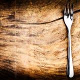 与叉子的菜单背景 库存图片