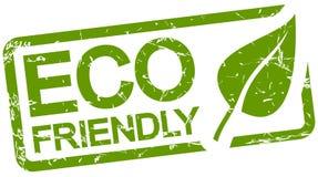 与友好的文本ECO的绿色邮票 库存照片