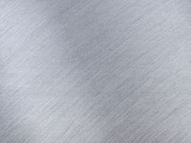 与反射条纹的浅灰色的金属纹理 库存图片