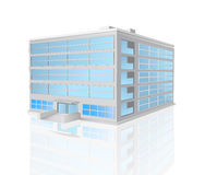 与反射的办公室五层大厦 库存图片