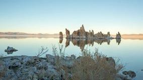 与反射的单音湖凝灰岩 影视素材