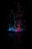 与反射的抽象油漆舞蹈 免版税库存图片
