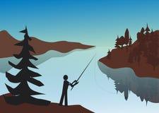 与反射的河风景 图库摄影