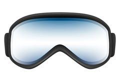 与反射的滑雪风镜在白色solated 库存图片
