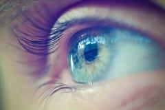 与反射的眼睛 免版税图库摄影
