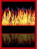 与反映的火 免版税库存照片