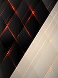 与发光学和火花的黑菱形 免版税库存照片