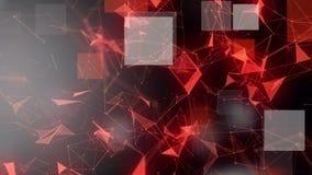 与发光的三角和正方形的未来派动画在慢动作, 4096x2304圈4K 股票视频
