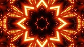 与发光的样式背景墙纸的红色橙色星kalaidoscope 皇族释放例证