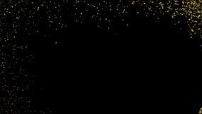 与发光的金雪花的垂悬的典雅的圣诞节晚上在假日背景的球和字法 库存例证