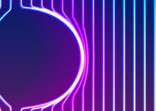 与发光的80s新的减速火箭的蒸气波浪样式的氖线背景 库存图片