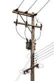 与变压器的具体电塔,被隔绝 免版税库存照片