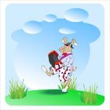 与口琴的兔子 免版税图库摄影