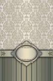 与古板的样式和框架的装饰背景 免版税库存照片