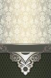 与古板的花卉样式的装饰背景 库存照片